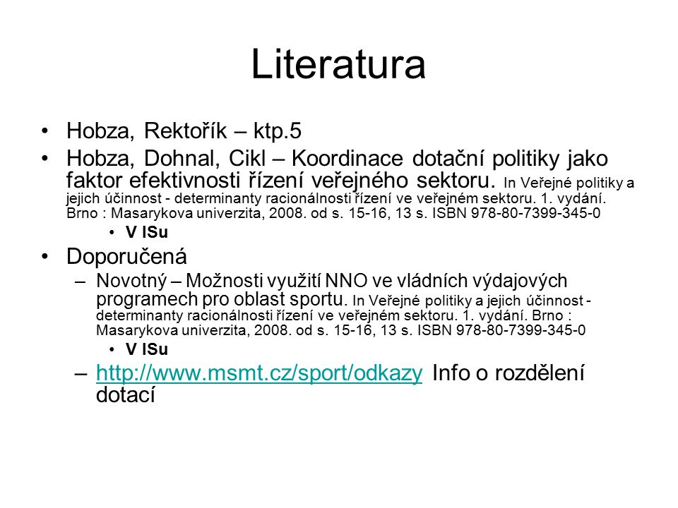Literatura Hobza, Rektořík – ktp.5