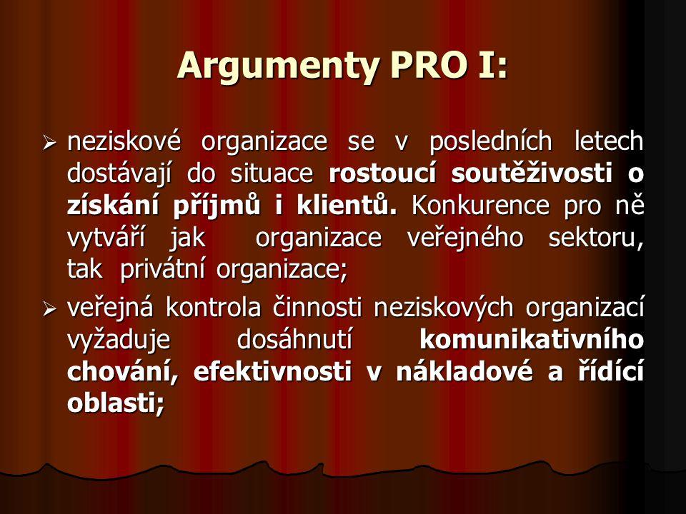 Argumenty PRO I: