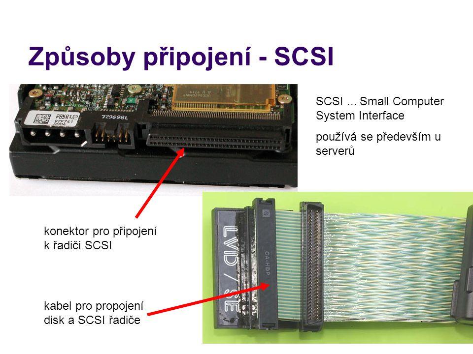 Způsoby připojení - SCSI