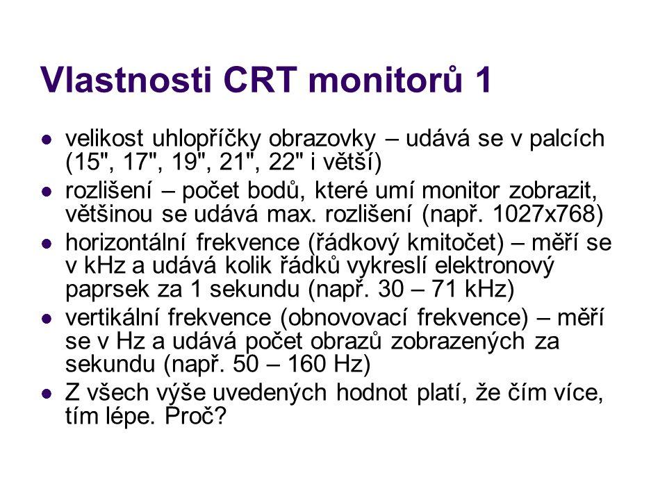 Vlastnosti CRT monitorů 1
