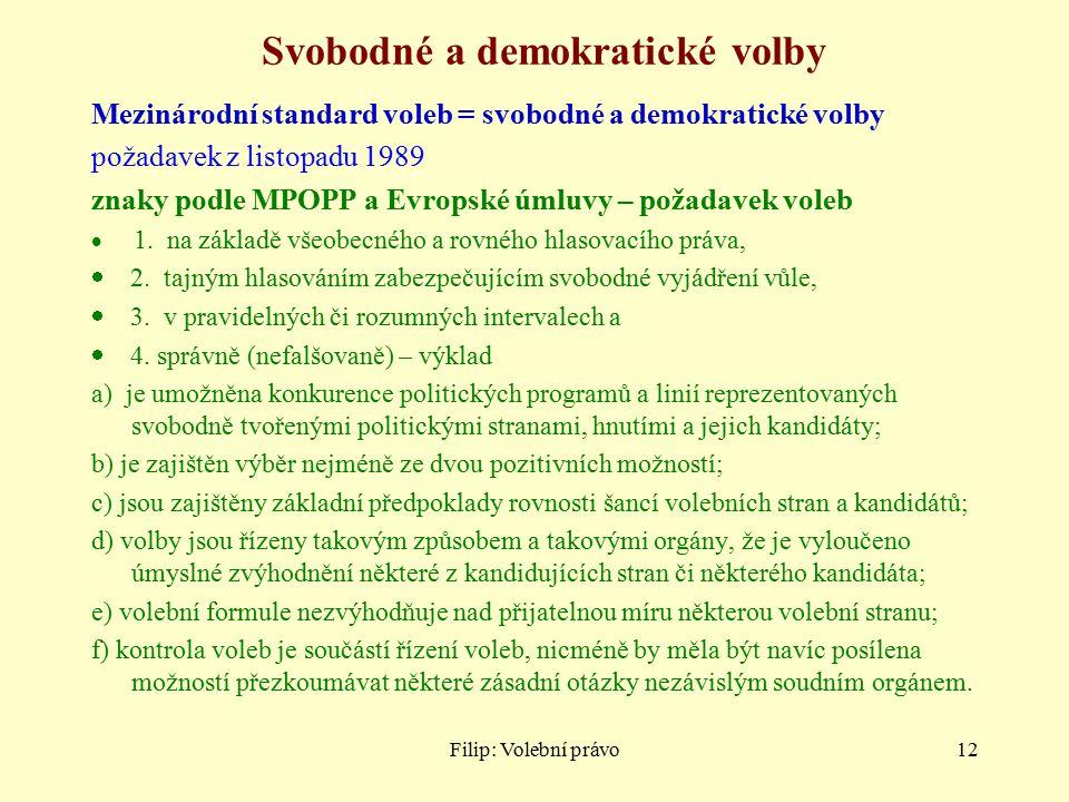 Svobodné a demokratické volby