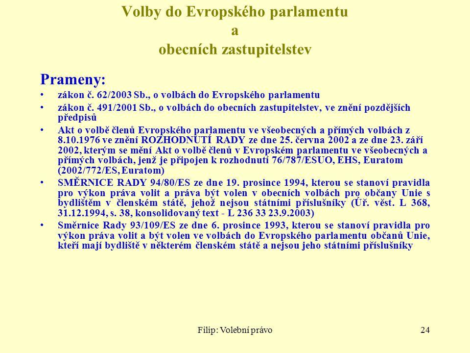 Volby do Evropského parlamentu a obecních zastupitelstev