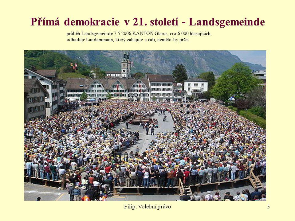 Přímá demokracie v 21. století - Landsgemeinde