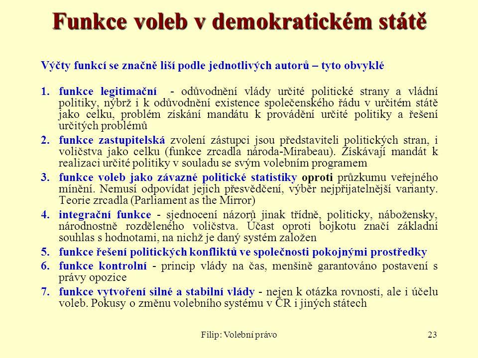 Funkce voleb v demokratickém státě