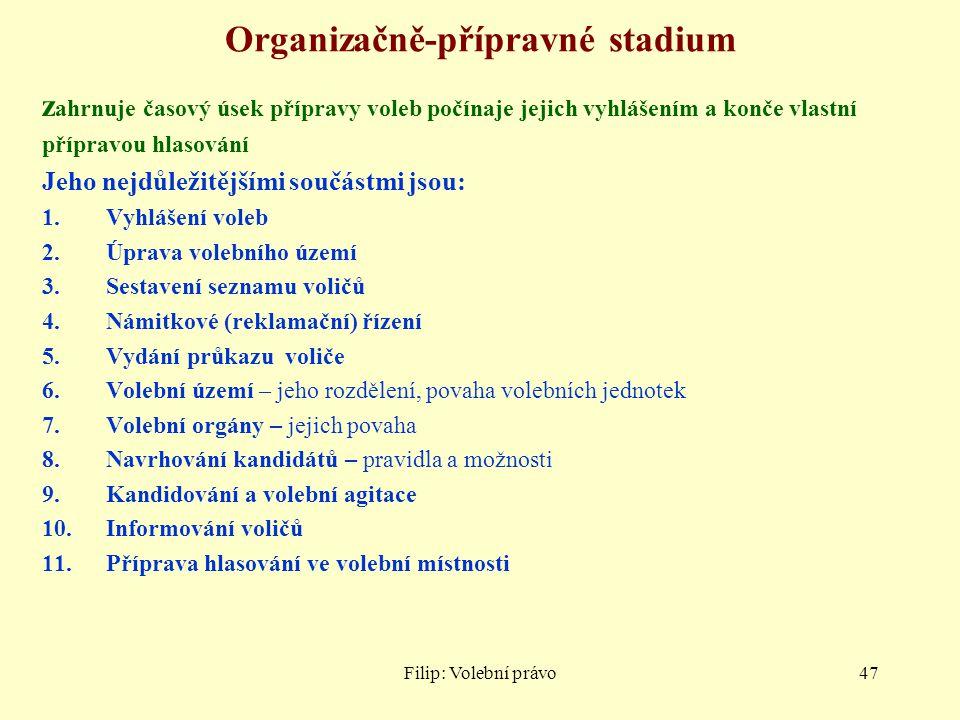 Organizačně-přípravné stadium