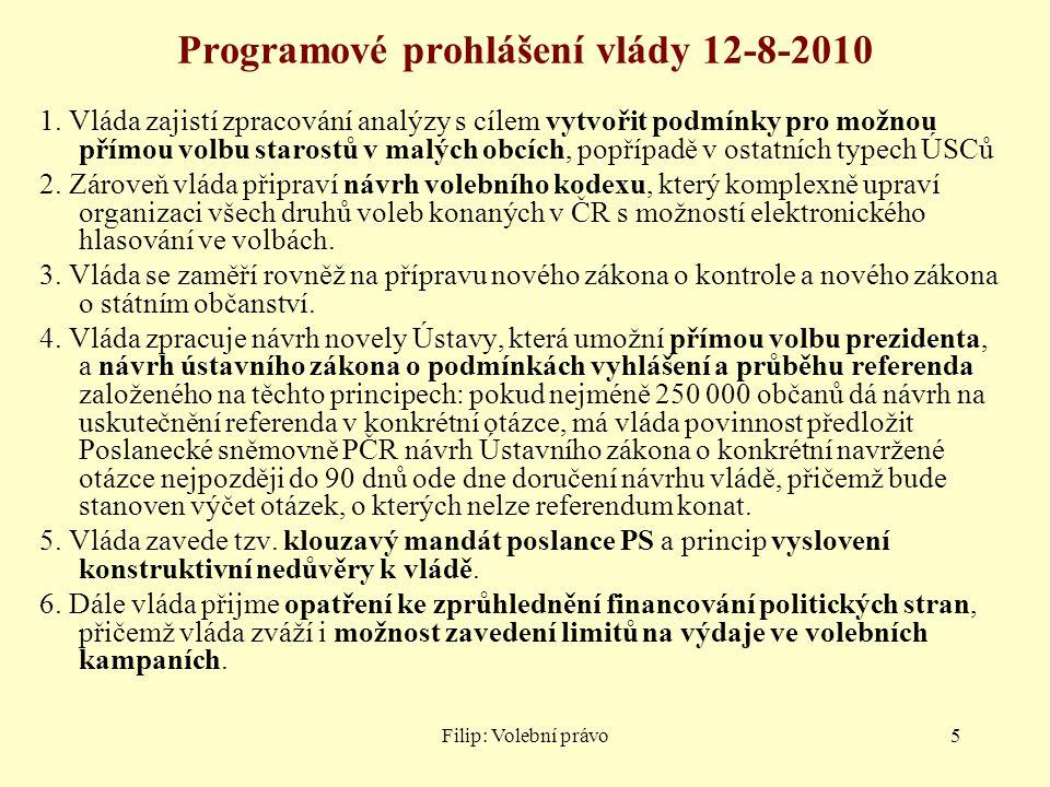 Programové prohlášení vlády 12-8-2010