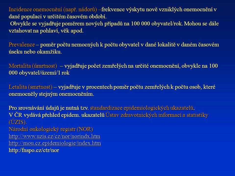 Incidence onemocnění (např