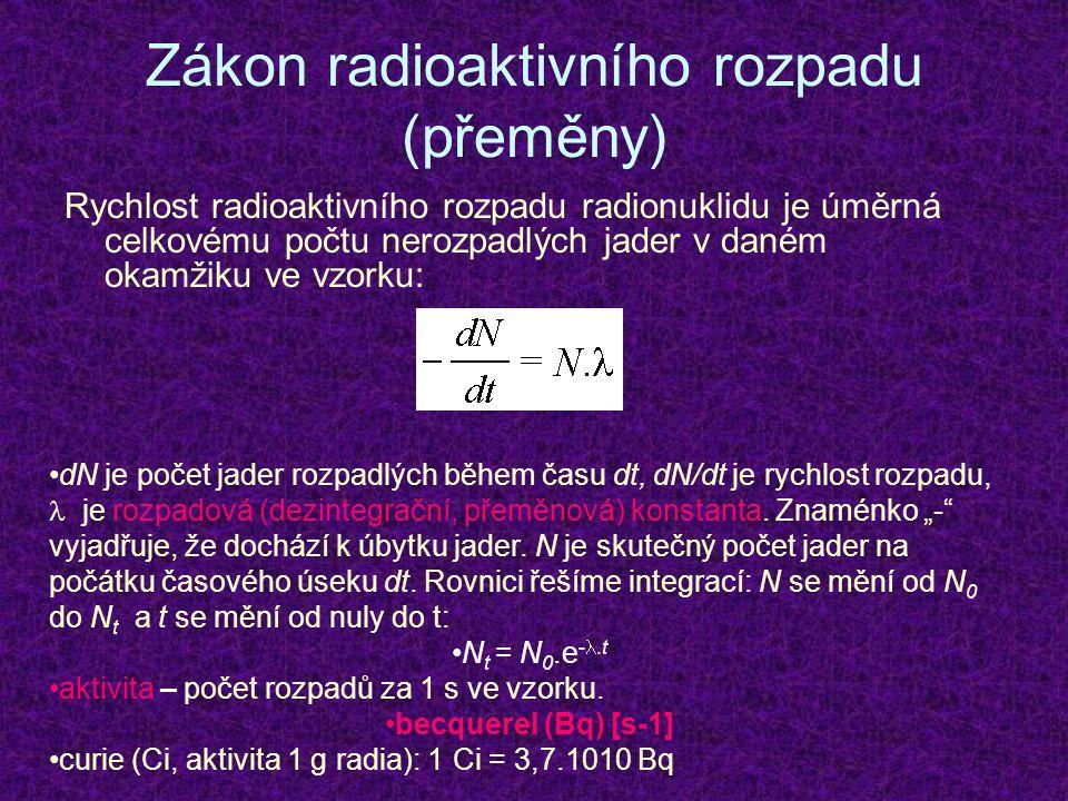 Zákon radioaktivního rozpadu (přeměny)