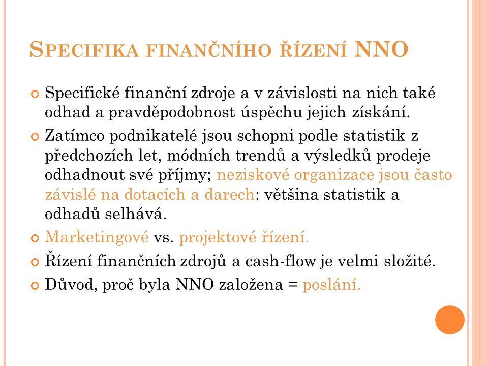 Specifika finančního řízení NNO