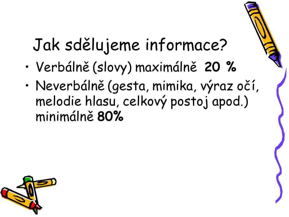 Jak sdělujeme informace