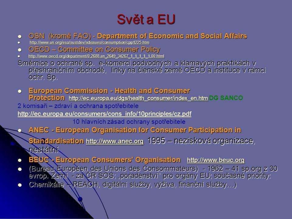 Svět a EU OSN (kromě FAO) - Department of Economic and Social Affairs