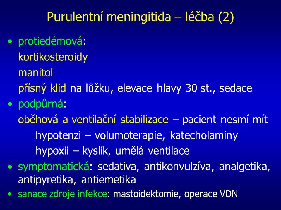 Purulentní meningitida – léčba (2)
