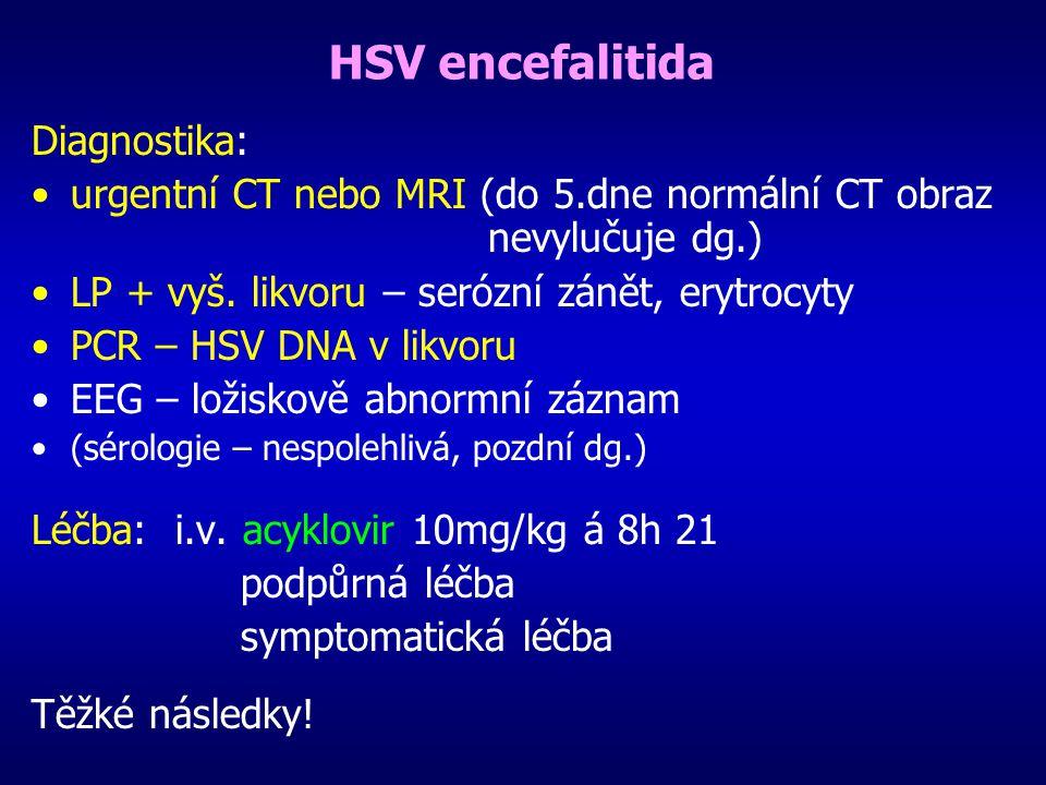 HSV encefalitida Diagnostika: