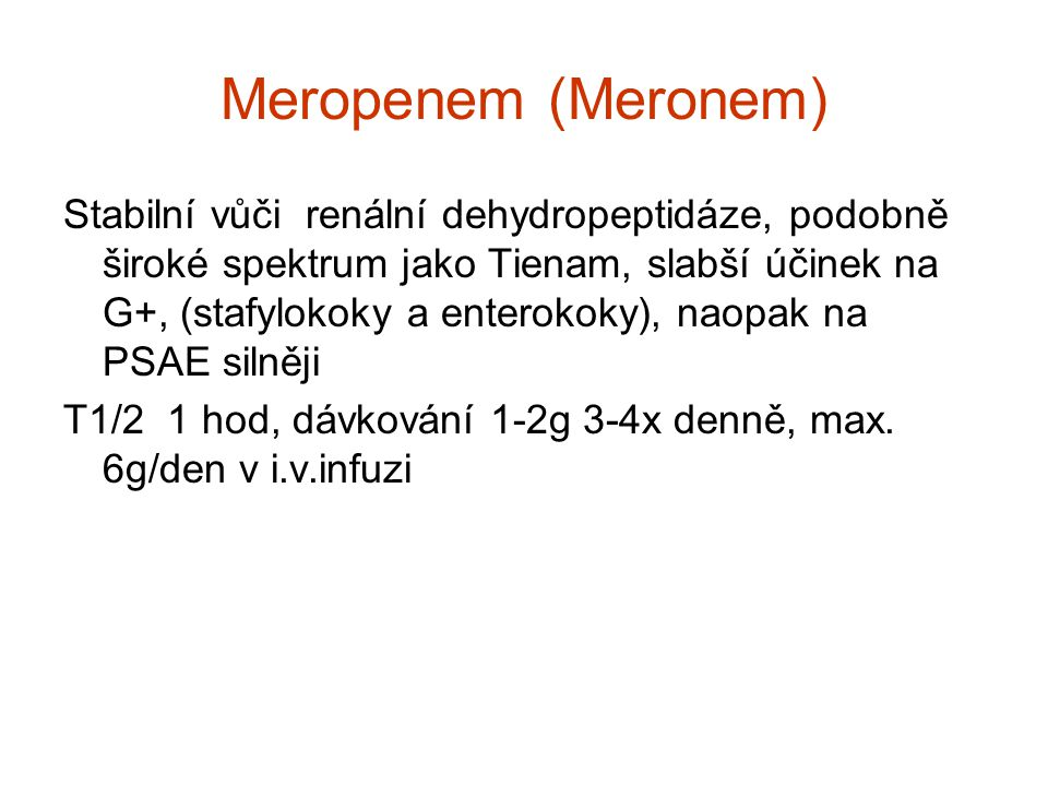 Meropenem (Meronem)