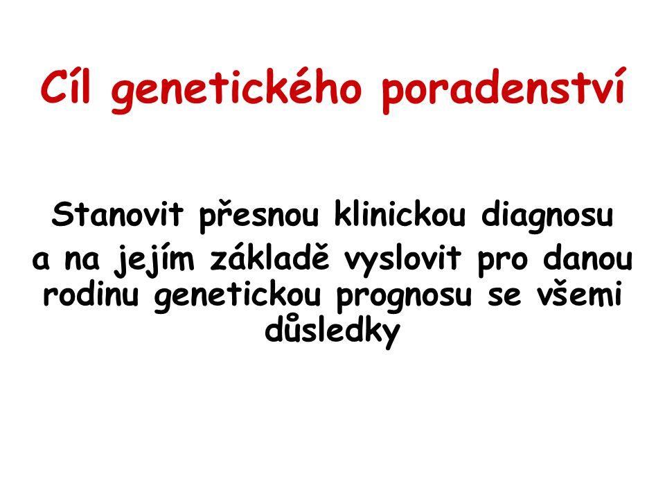 Cíl genetického poradenství
