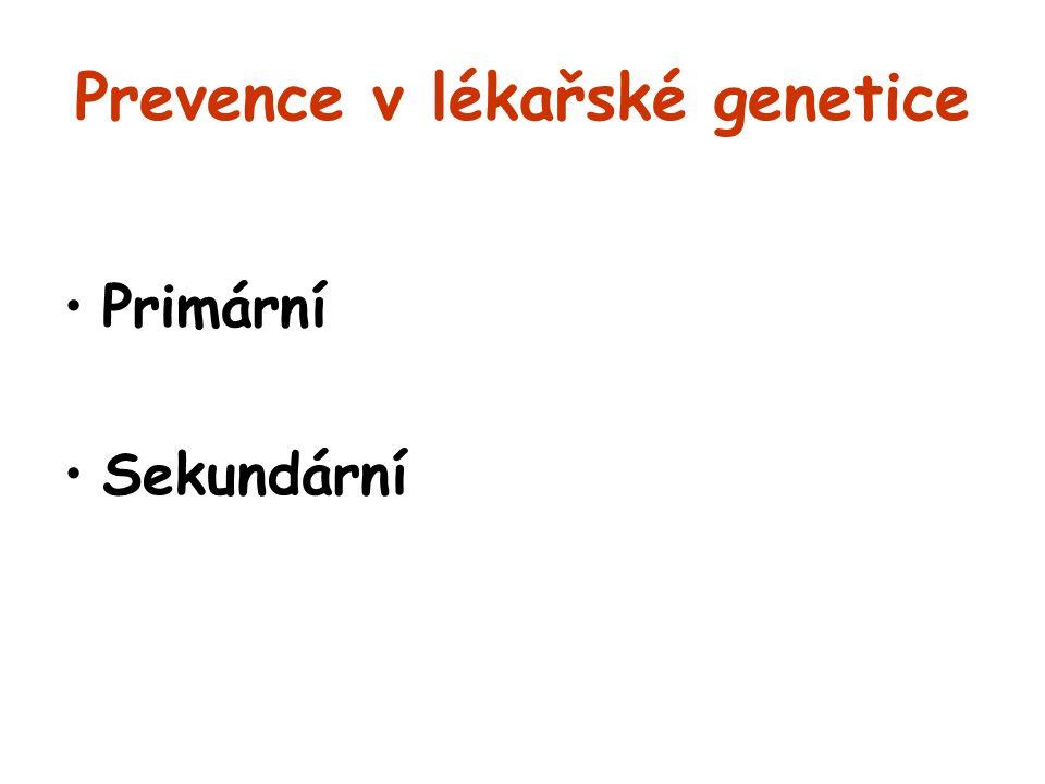Prevence v lékařské genetice