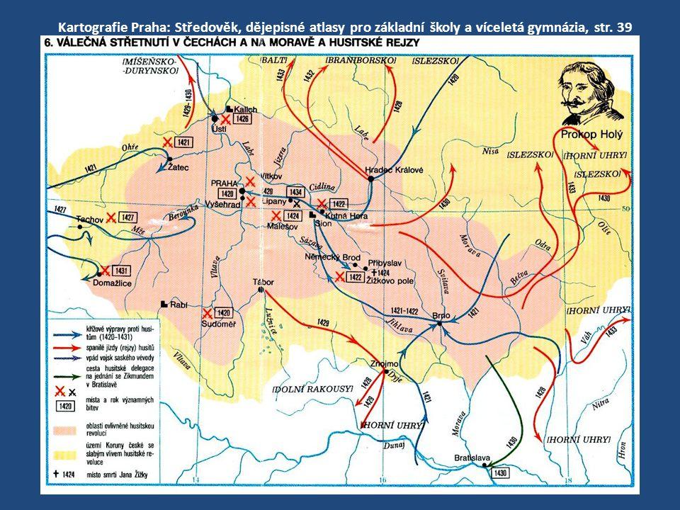 Kartografie Praha: Středověk, dějepisné atlasy pro základní školy a víceletá gymnázia, str. 39