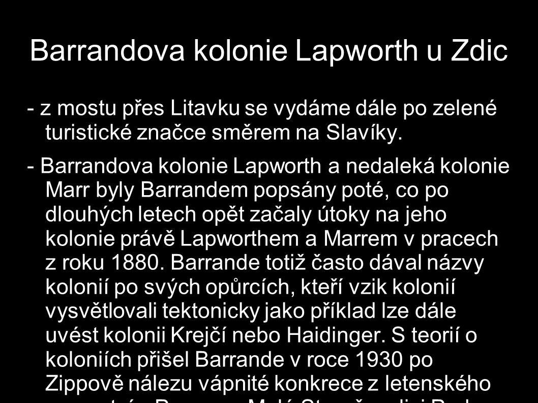Barrandova kolonie Lapworth u Zdic