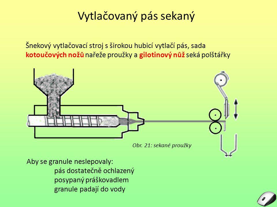 Vytlačovaný pás sekaný