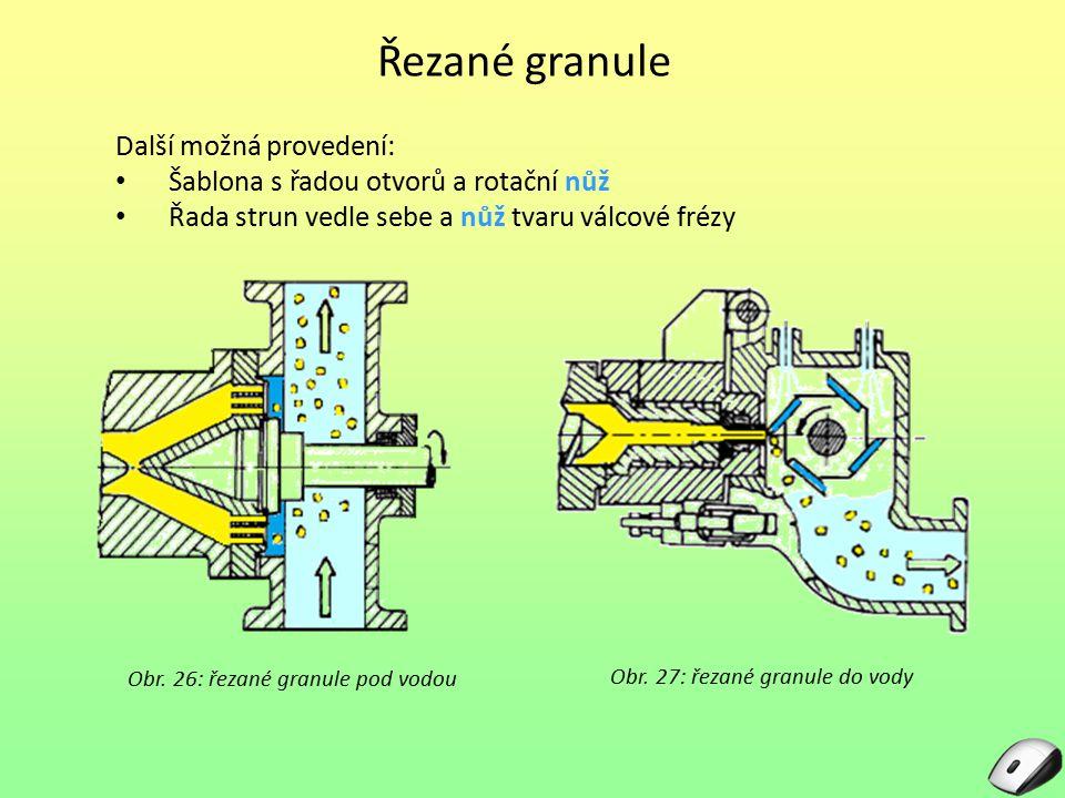 Řezané granule Další možná provedení: