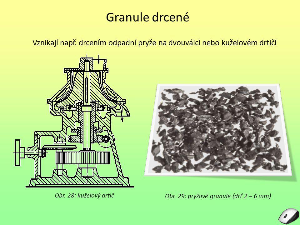 Obr. 29: pryžové granule (drť 2 – 6 mm)