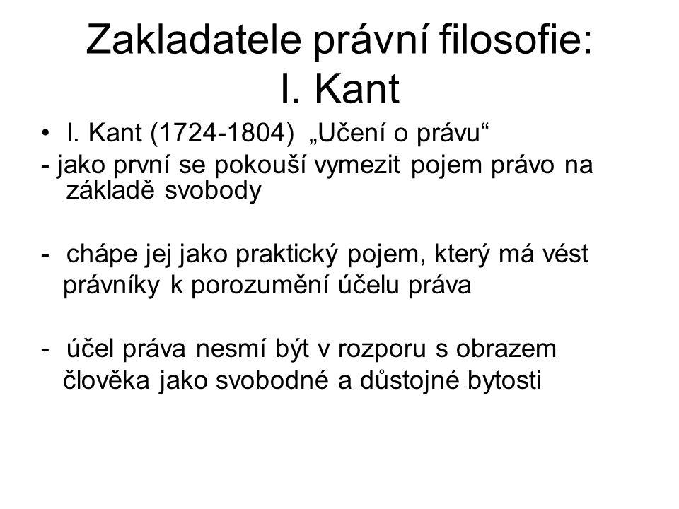 Zakladatele právní filosofie: I. Kant