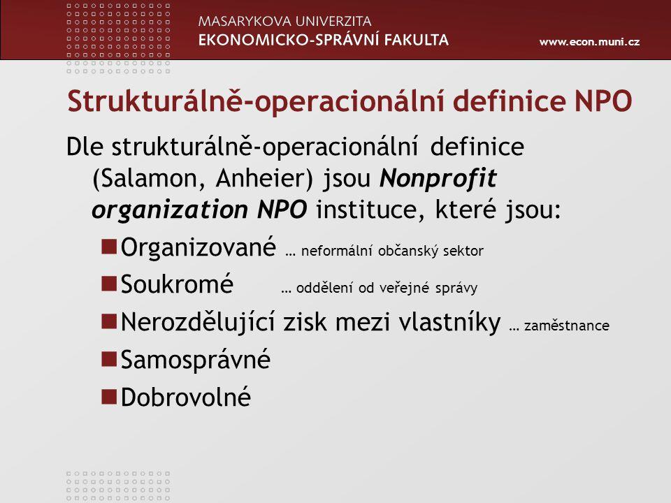 Strukturálně-operacionální definice NPO