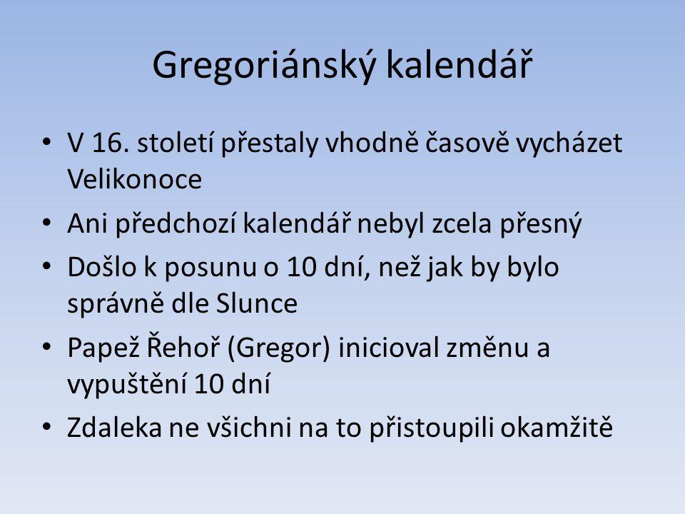 Gregoriánský kalendář