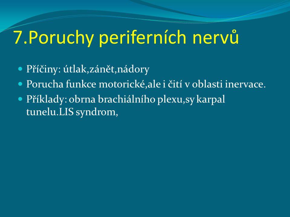 7.Poruchy periferních nervů