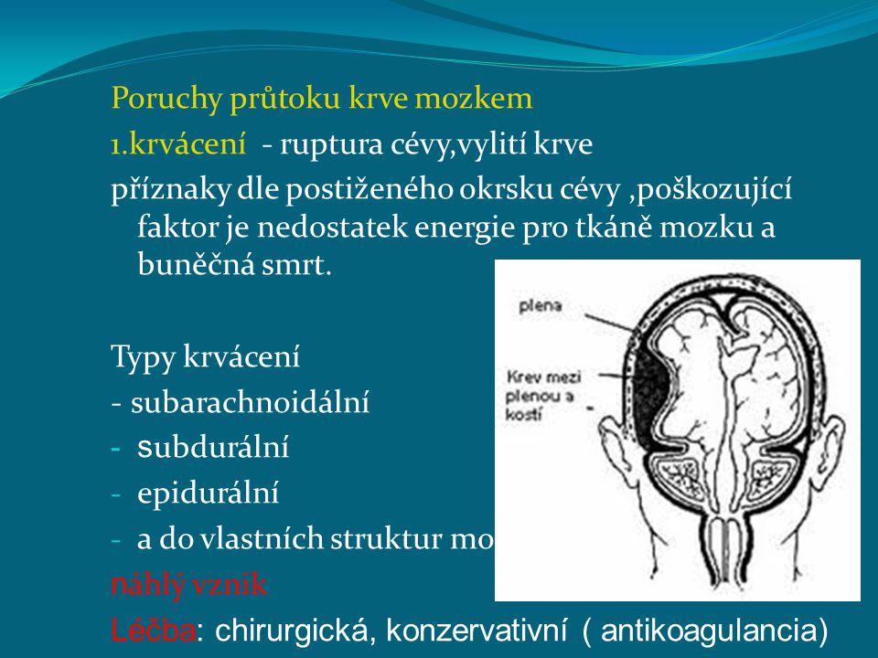 Poruchy průtoku krve mozkem