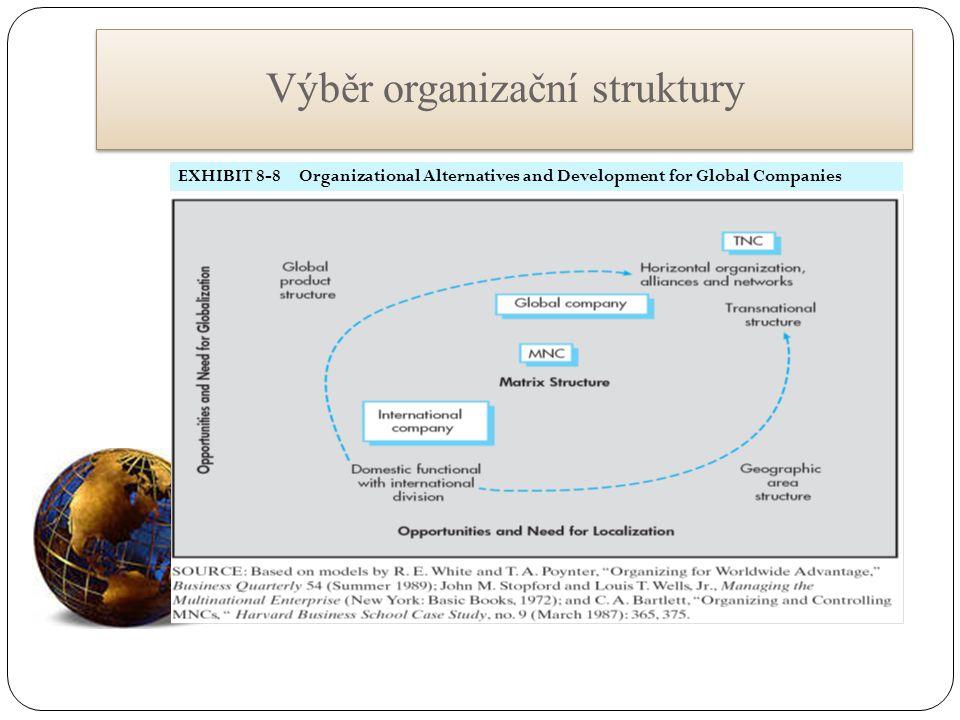 Výběr organizační struktury