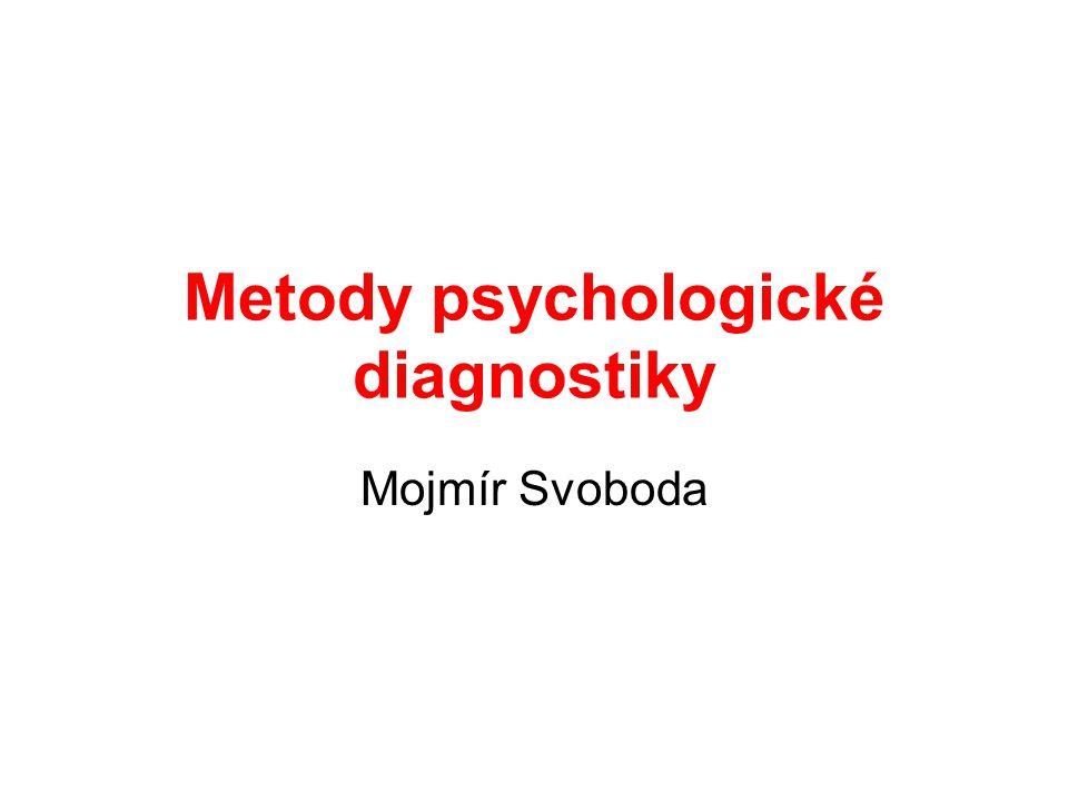 Metody psychologické diagnostiky