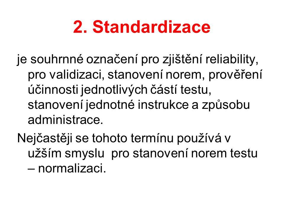 2. Standardizace