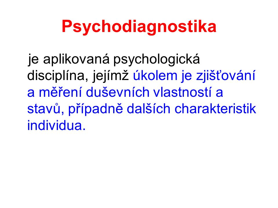 Psychodiagnostika
