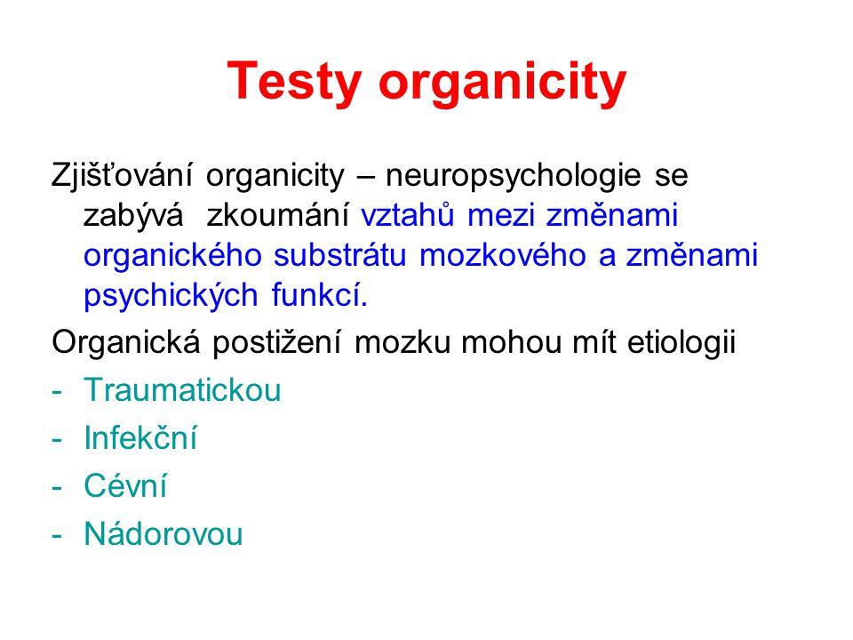 Testy organicity