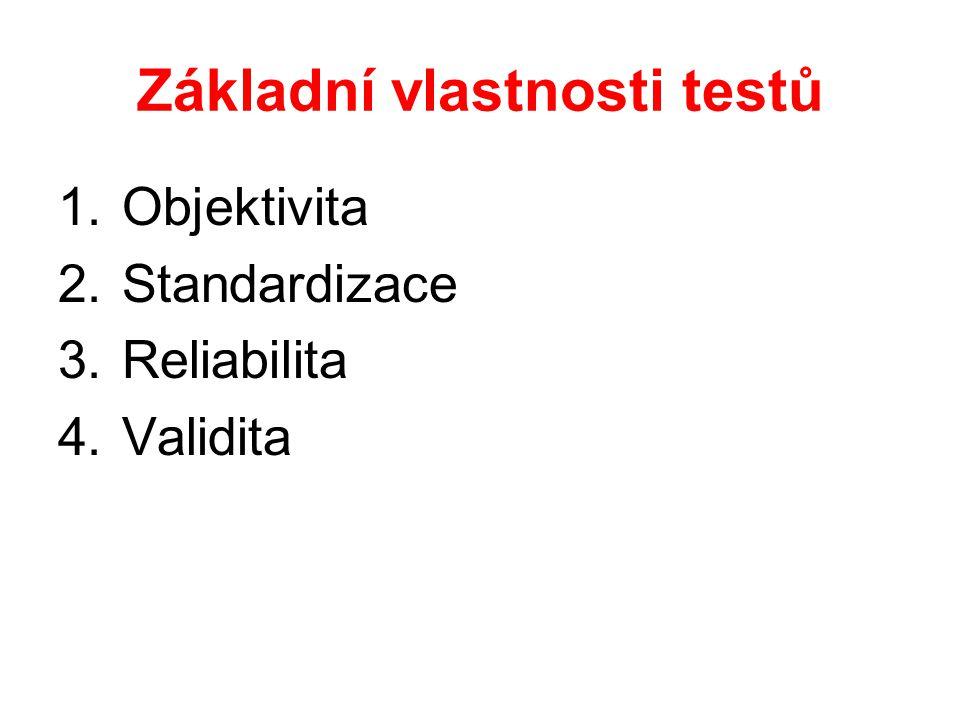 Základní vlastnosti testů