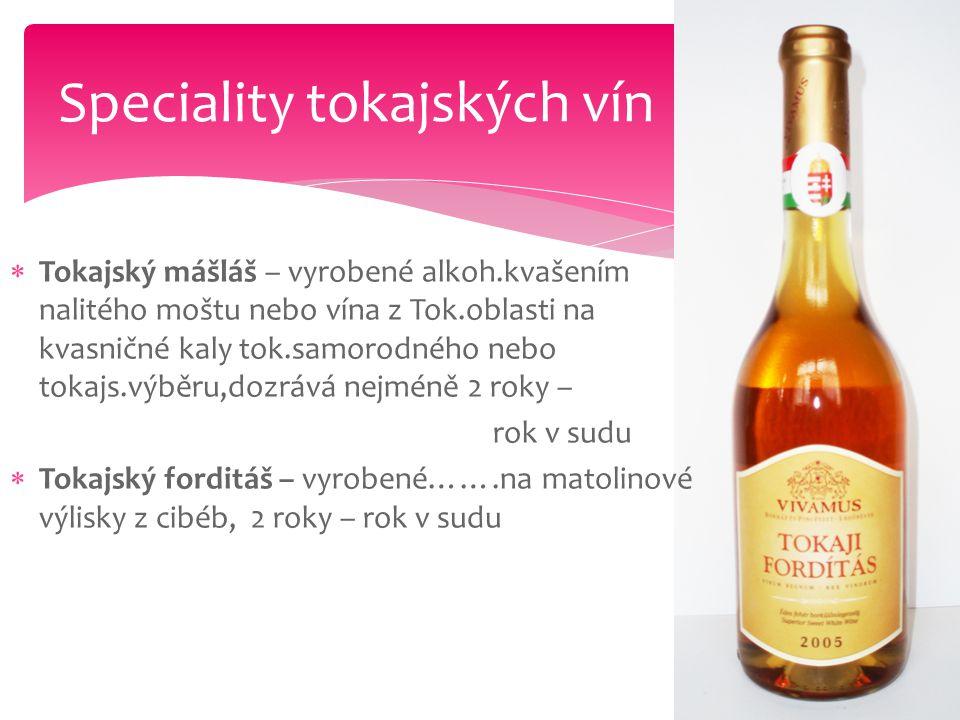 Speciality tokajských vín