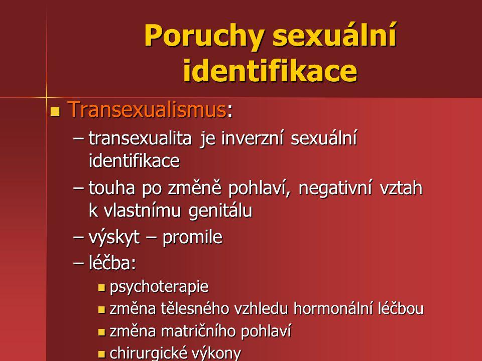 Poruchy sexuální identifikace
