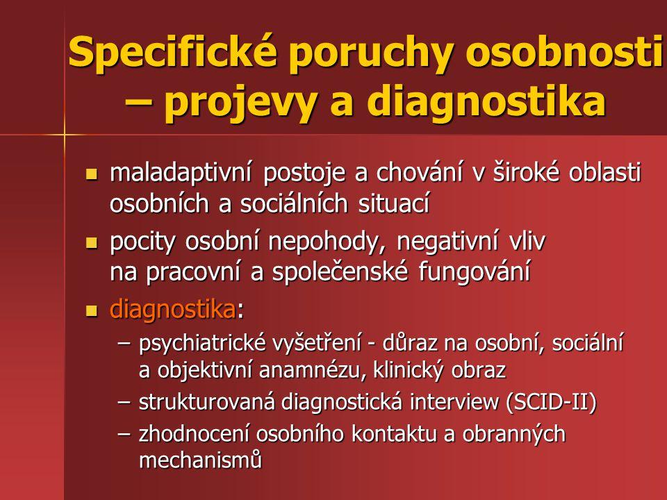 Specifické poruchy osobnosti – projevy a diagnostika