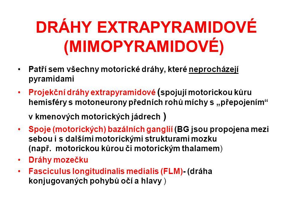DRÁHY EXTRAPYRAMIDOVÉ (MIMOPYRAMIDOVÉ)
