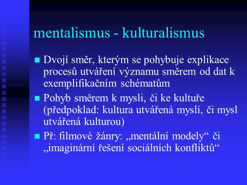 mentalismus - kulturalismus