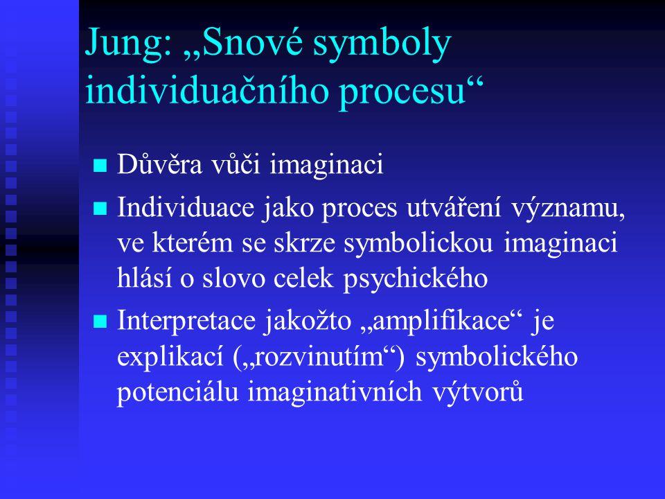 """Jung: """"Snové symboly individuačního procesu"""
