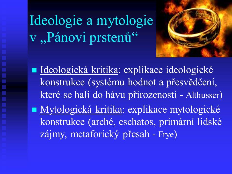 """Ideologie a mytologie v """"Pánovi prstenů"""