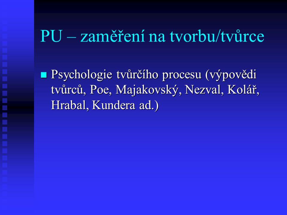 PU – zaměření na tvorbu/tvůrce