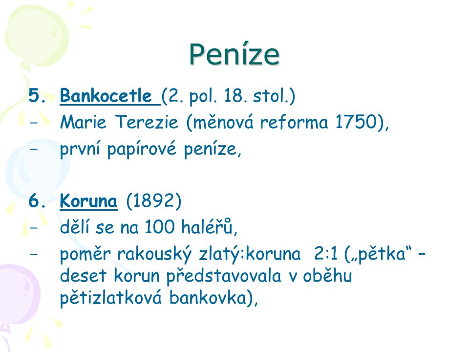 Peníze Bankocetle (2. pol. 18. stol.)