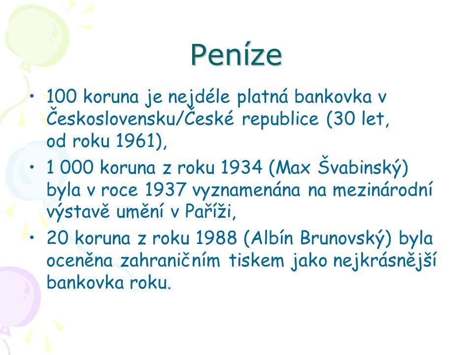 Peníze 100 koruna je nejdéle platná bankovka v Československu/České republice (30 let, od roku 1961),
