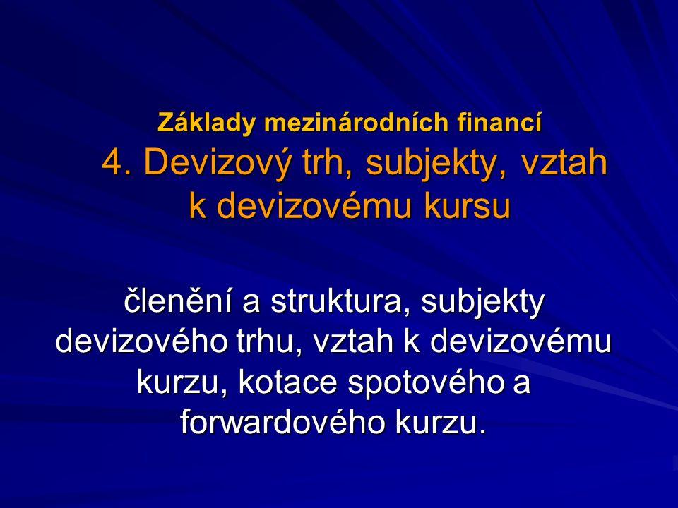 Základy mezinárodních financí 4