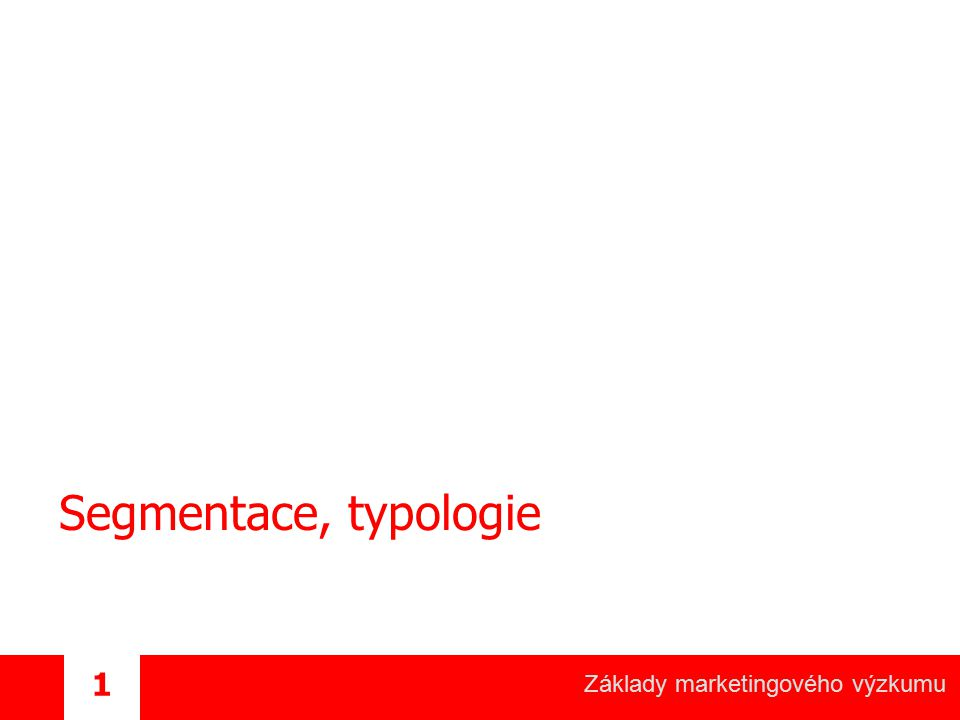 Segmentace, typologie