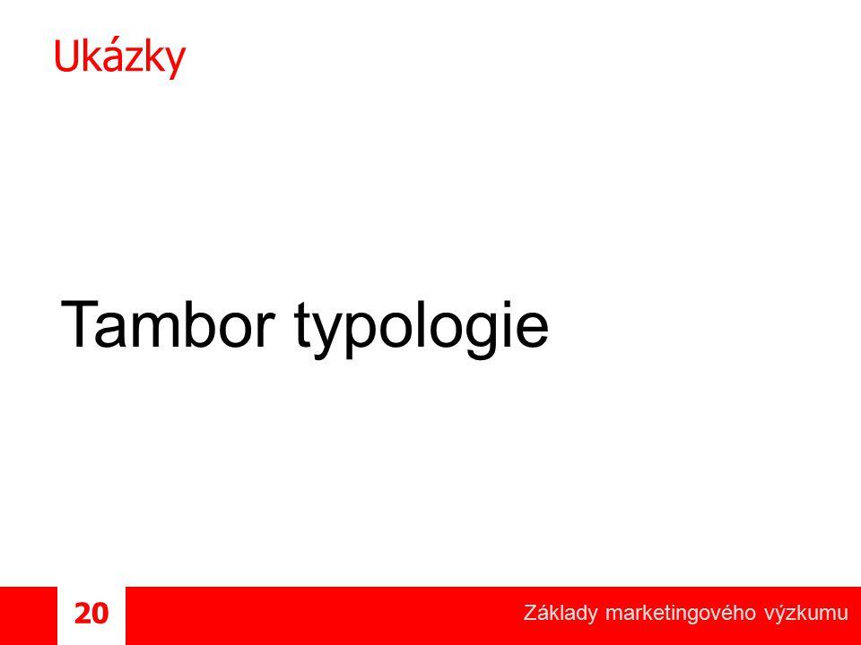Ukázky Tambor typologie