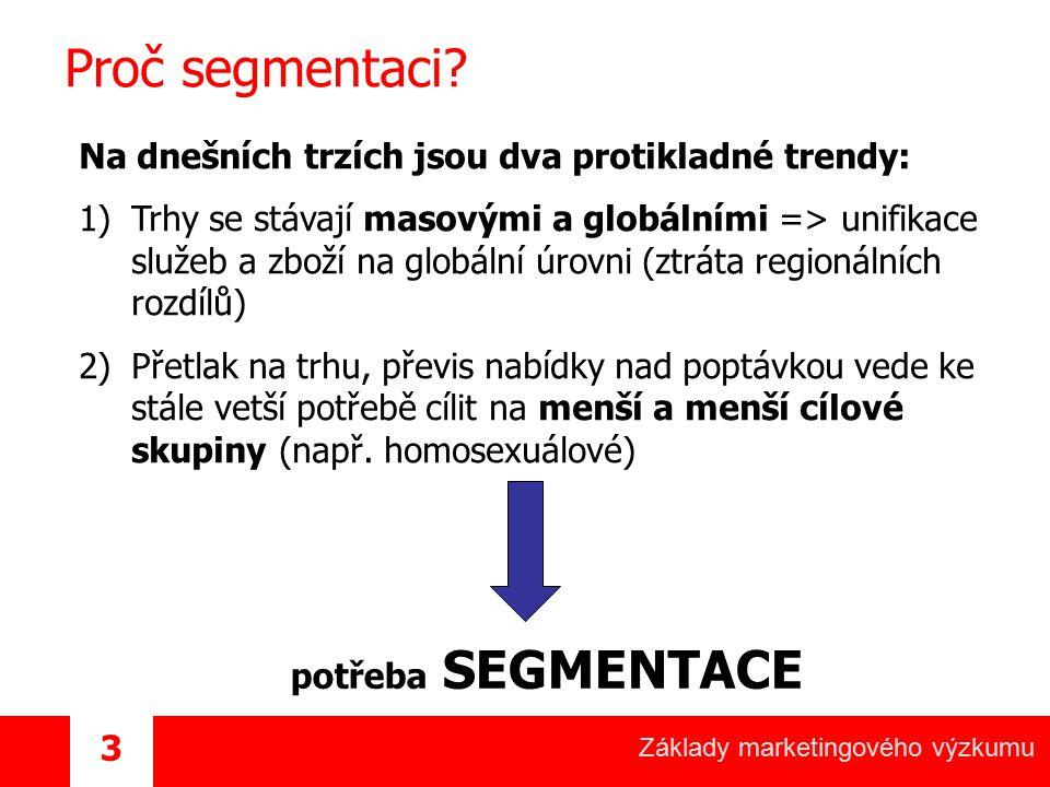 Proč segmentaci Na dnešních trzích jsou dva protikladné trendy:
